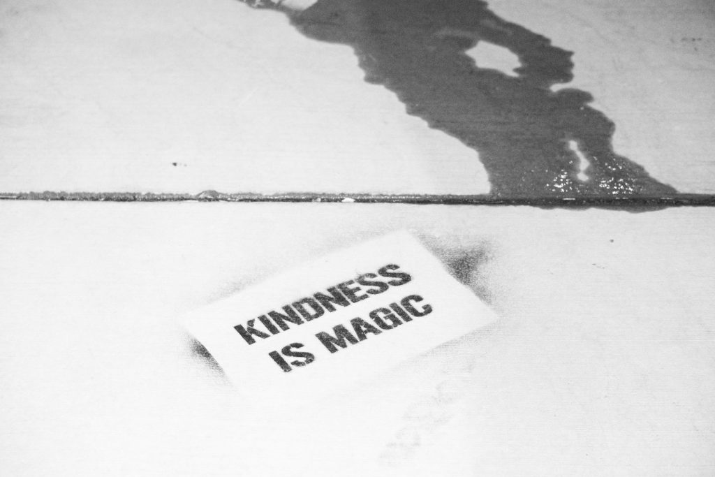 Kindness is magic. Feel good now do a random act of kindness.